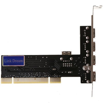 Гаджет   High Speed 480Mbps PCI 4 USB2.0 Ports Expansion Card Support Windows 98SE ME 2000 XP Vista 7 Other Accessories
