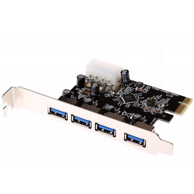 Practical 5Gbps PCI - E 4 USB3.0 Ports Adapter Controller Card Compatible USB2.0 1.1 1.0 for Computer