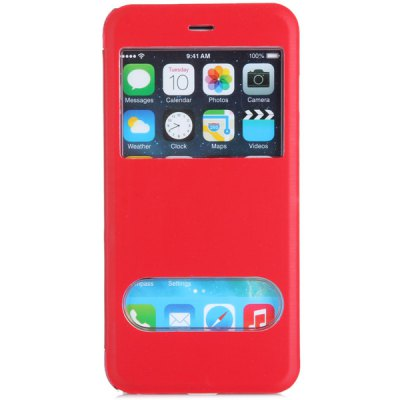 Fashionable Transparent PC and PU Material Cover Case with Dual View Windows for iPhone 6 Plus  -  5.5 inchesiPhone Cases/Covers<br>Fashionable Transparent PC and PU Material Cover Case with Dual View Windows for iPhone 6 Plus  -  5.5 inches<br><br>Compatible for Apple: iPhone 6 Plus<br>Features: With View Window, Full Body Cases<br>Material: PU Leather, Plastic<br>Style: Special Design<br>Color: Black, White, Red, Blue<br>Product weight : 0.039 kg<br>Package weight : 0.100 kg<br>Product size (L x W x H): 15.9 x 8 x 1 cm / 6.3 x 3.1 x 0.4 inches<br>Package size (L x W x H) : 18 x 10 x 3 cm<br>Package contents: 1 x Case