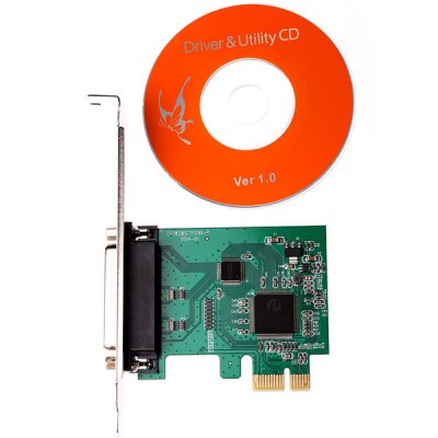 High Quality 25Pin DB25 PCI - E Parallel Bus Port Converter Card Support Windows 98SE ME 2000 2003 XP 7 Vista Linux от GearBest.com INT