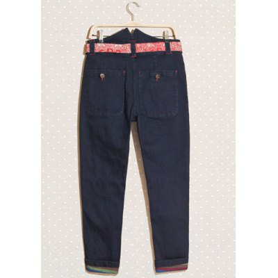 Stylish Zipper Fly Ethnic Belt Embellished Solid Color Slimming Narrow Feet Mens Denim PantsMens Pants<br>Stylish Zipper Fly Ethnic Belt Embellished Solid Color Slimming Narrow Feet Mens Denim Pants<br><br>Material: Jeans, Cotton<br>Pant Length: Long Pants<br>Wash: Medium<br>Fit Type: Regular<br>Waist Type: Mid<br>Closure Type: Zipper Fly<br>Weight: 1KG<br>Pant Style: Pencil Pants<br>Package Contents: 1 x Pants