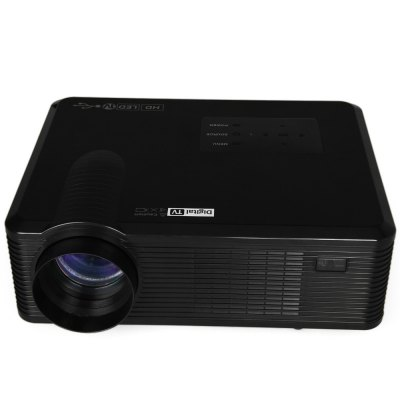 Гаджет   CL740D Multimedia 2400LM 800 x 800 Pixels LED Projector with Digital TV Interface Support 1080P  -  UK Plug Projector