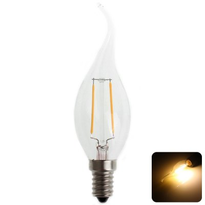 Zweihnder CMY-40 E14 Tail-drawing Tungsten Filament Warm White Light Candle Light Bulb