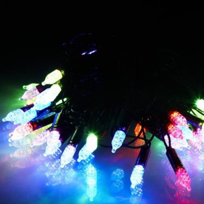 Christmas Props Water Resistant 6m 40t Base RGB LED String Light
