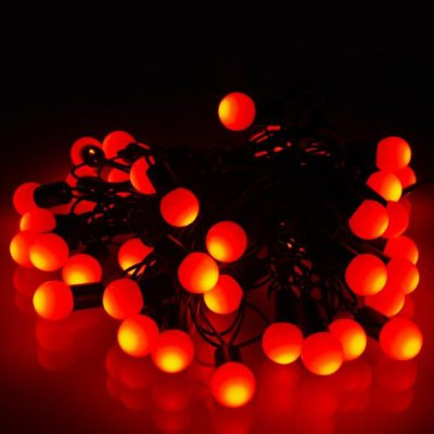 Christmas Props Water Resistant 6m 40t Base LED Ball String Light