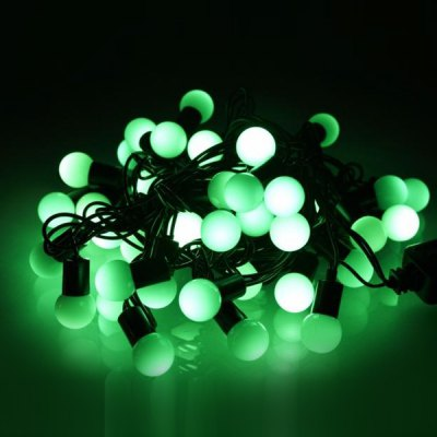 Exquisite 6m LED Ball String Light Water Resistant 40t Base Lamp Christmas Adornment Xmas Stores Decorations Birthday Festival Party Supplies