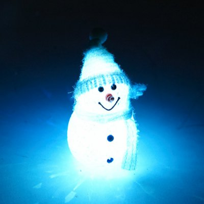Exquisite Christmas Ornament 11cm LED Light Snowman Xmas Showcase Decorations Birthday Festival Party Supplies