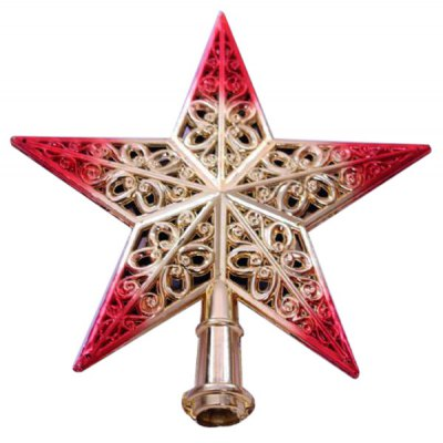 Popular Hollowed - out 3D Tree Top Star Christmas Decorations Festival Party Ball Supplies