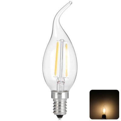 2W E14 Retro Industry Style LED Filament Candle Light Lamp (Warm White 250LM)