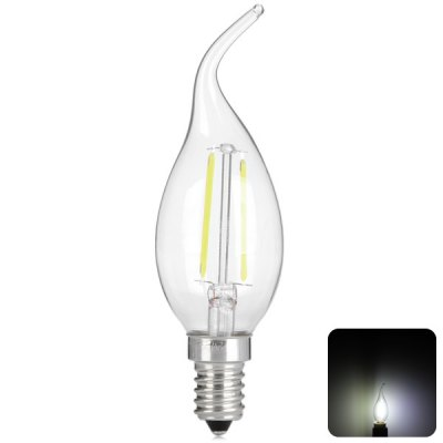 2W E14 Retro Industry Style LED Filament Candle Light Lamp (White Light 250LM)