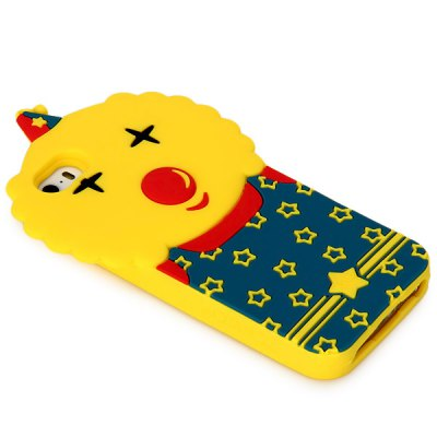 ФОТО High Quality Clown Pattern Design Silicone Material Back Cover Case for iPhone 5 5S