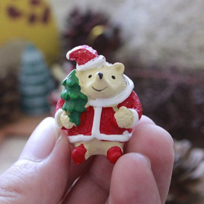 Exquisite Mini Resin Hedgehog Christmas Desk Adornment Toy Xmas Gadget Gift Home Office Ornaments