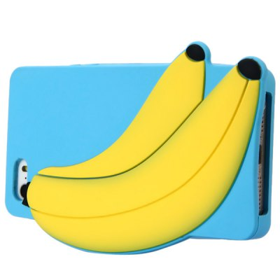 Гаджет   Silicone Material Banana Design Protective Case Cover with Cute Pattern for iPhone 5 5S iPhone Cases/Covers
