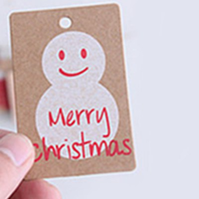 20Pcs Exquisite Snowman Pattern Kraft Paper Gift Tags Christmas Bags Xmas Present Pack Decors Home Office Supplies