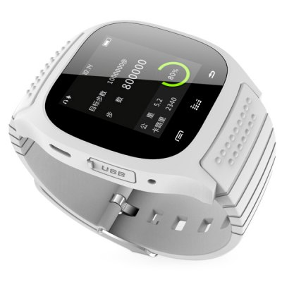 Гаджет   RWATCH M26 LED Bluetooth Watch with Dial / Call Answer / SMS Reminding / Music Player / Anti - lost / Passometer / Thermometer Function for Samsung / HTC + More Smart Watches