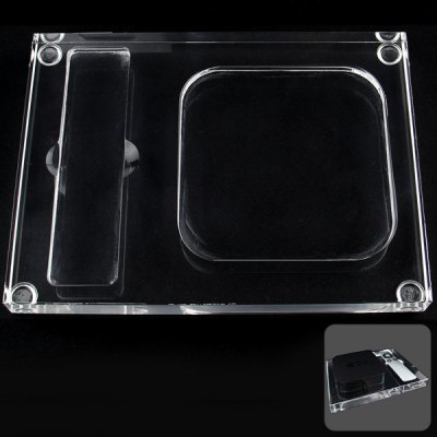 Гаджет   Practical Transparent Acrylic Base Stand Desktop Tray for Apple TV2 / TV3 and Remote Control iPhone Mounts & Holders