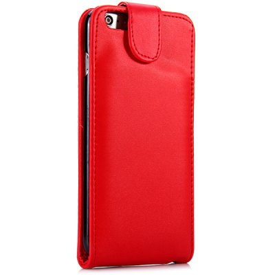 ФОТО Vertical Top Flip Cover Case with Artificial Leather and Plastic Material and Card Holder for iPhone 6 Plus  -  5.5 inches