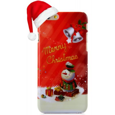 Fashionable PC Material Christmas Snowman Pattern Back Cover Case for iPhone 6  -  4.7 inches