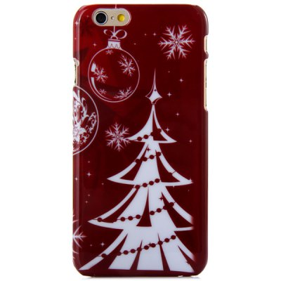 Гаджет   Fashionable PC Material Christmas Tree Pattern Back Cover Case for iPhone 6  -  4.7 inches