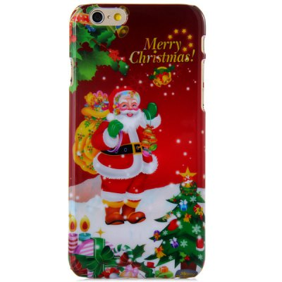 Fashionable PC Material Santa Claus Pattern Back Cover Case for iPhone 6  -  4.7 inches
