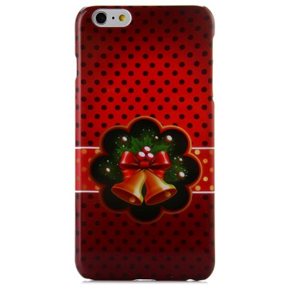 Гаджет   Fashionable PC Material Christmas Bell Pattern Back Cover Case for iPhone 6 Plus  -  5.5 inches iPhone Cases/Covers