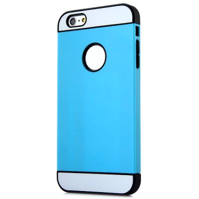 ФОТО Fashionable TPU and Plastic Material Contrast Color Back Cover Case for iPhone 6 Plus  -  5.5 inches