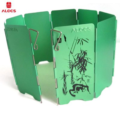 ALOCS CS - B05 Lightweight 7075 - Aluminum Foldable Camping Stove Wind Screen Windshield