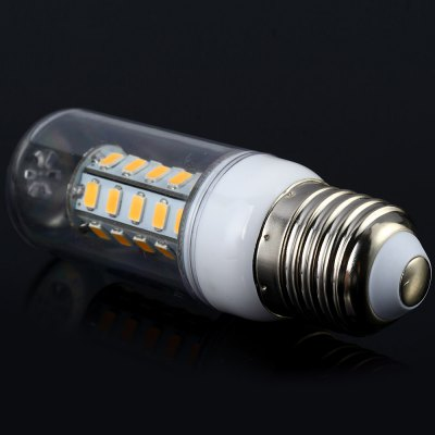 Гаджет   Sencart 7W E27 1200LM 36 SMD - 5730 LED Corn Bulb  -  3000 - 3500K Transparent Shell LED Light Bulbs