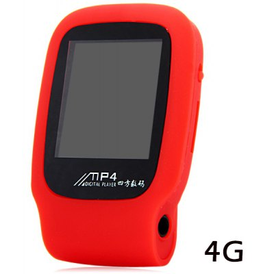 Portable Sports Style Digital Screen MP4 Player with Universal 3.5mm Jack Clip Support TF Card USB Interface  -  4G