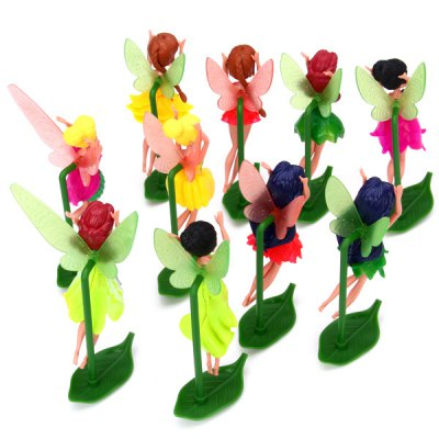 Гаджет   10pcs Cartoon Products Large Tinkerbell Fairy PVC Action Figure Animation Character Models Dolls & Action Figures