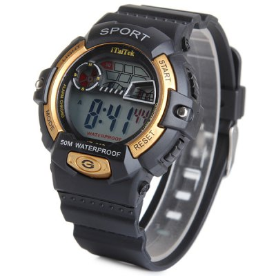 iTaiTek 816 LED Sports Military Watch with Week Date Stopwatch Alarm Function