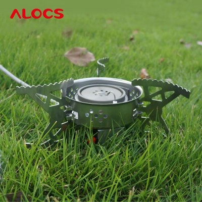Гаджет   ALOCS CS - G04 Split Hurricane Ultralight Folding Stove Gas Furnace Burner for Outdoor Cookout Backpacking Cooking Stove and Hardware