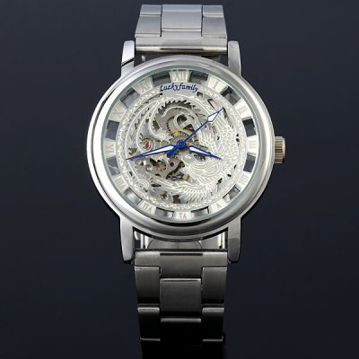 ФОТО Lucky family Female Hand - winding Automatic Mechanical Watch Hollow - out Phoenix Pattern
