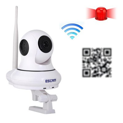 Гаджет   ESCAM QF500 Wifi 720P Alarm IP Camera Pan / Tilt Vertical Angle 120 Degree P2P Support 32GB TF Card IP Cameras