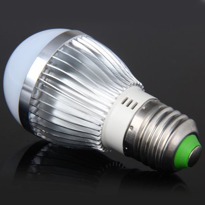 Ultra Bright E27 3W SMD 5730 6 - LED Silver Globe Bulb  -  270 Lumens White Light