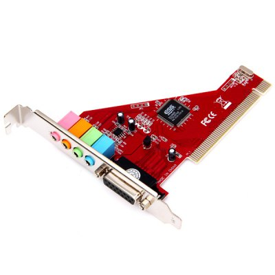 Practical Dual Channel 32 - bit PCI Sound Converter Card Compatible Direct Sound 3D for Home Theater