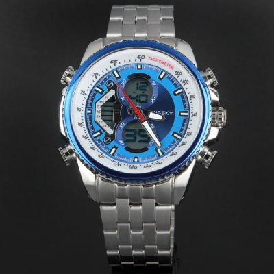 Гаджет   Kingsky 259 Army LED Dual - movt Wristwatch Alarm Week Date Stopwatch Military Watch Sports Watches