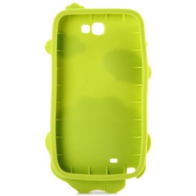 ФОТО High Quality Lion Pattern Silicone Material Back Cover Case for Samsung Galaxy Note2 N7100