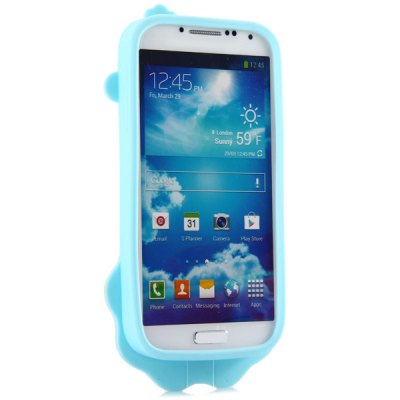 ФОТО High Quality Lion Pattern Silicone Material Back Cover Case for Samsung Galaxy S4 I9500 I9505