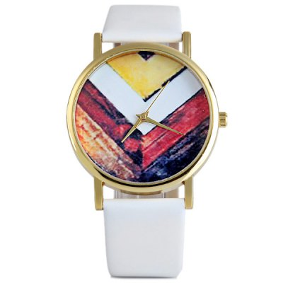 Retro Female Quartz Watch V Pattern Round Dial Leather BandWomens Watches<br>Retro Female Quartz Watch V Pattern Round Dial Leather Band<br><br>Watches categories: Female table<br>Available color: White, Red, Brown, Black<br>Style : Fashion&amp;Casual<br>Movement type: Quartz watch<br>Shape of the dial: Round<br>Display type: Pointer<br>Case material: Stainless steel<br>Band material: Leather<br>Clasp type: Pin buckle<br>The dial thickness: 0.7 cm / 0.3 inches<br>The dial diameter: 3.7 cm / 1.5 inches<br>The band width: 1.8 cm / 0.7 inches<br>Product weight: 30 g<br>Product size (L x W x H) : 24 x 3.7 x 0.7 cm / 9.4 x 1.5 x 0.3 inches<br>Package contents: 1 x Watch