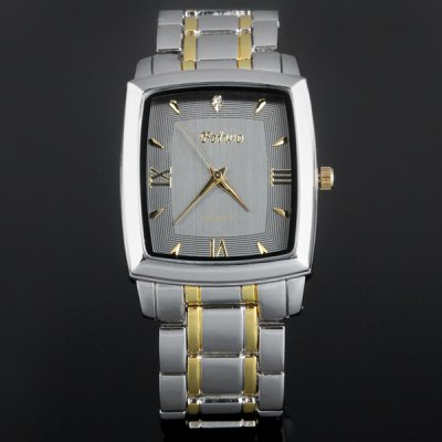 ФОТО Feiwo 8149 Male Quartz Watch Stainless Steel Band Rectangle Dial