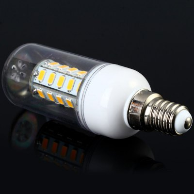 Sencart E14 7W 36 SMD - 5730 LEDs 3000 - 3500K Corn Lamp 1200Lm Transparent Light