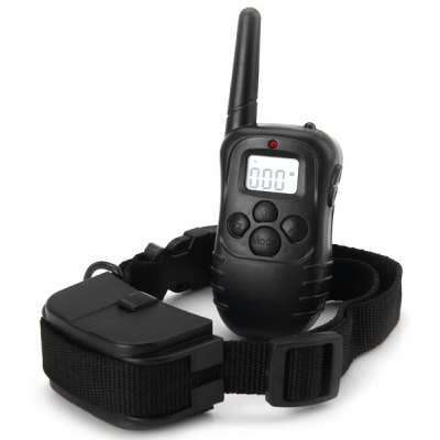 998D 100 Levels 300m Remote Pet Training System with Flashing LED Collar and LCD Display for 1 Dog