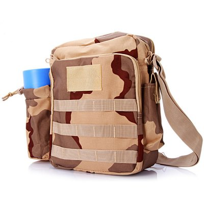 Durable Water Bottle Single Shoulder Bag Cross Body Sundries Pack Travel Camping Cycling Hiking Accessories