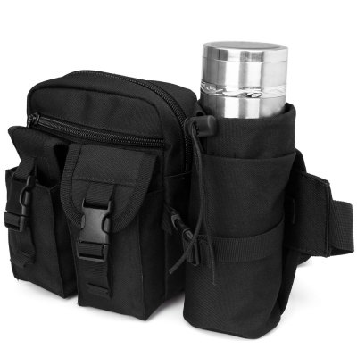 Military Style Multipurpose Waist Bag with Bottle Pack