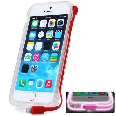 8 Pin USB Charger Cable Back Cover Case for iPhone 6 - 4.7 inches