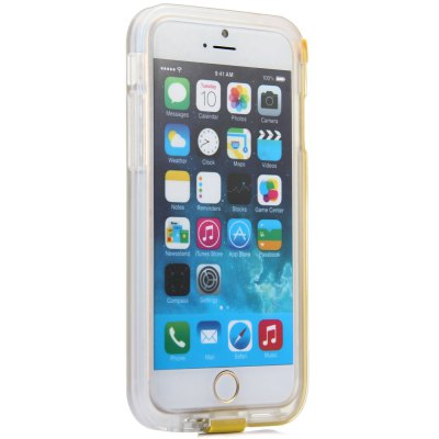 High Speed USB Charger Cable Design Transparent Plastic and TPU Back Cover Case with Flash Light for iPhone 6  -  4.7 inchesiPhone Cases/Covers<br>High Speed USB Charger Cable Design Transparent Plastic and TPU Back Cover Case with Flash Light for iPhone 6  -  4.7 inches<br><br>Compatible for Apple: iPhone 6<br>Features: Back Cover, Button Protector<br>Material: TPU, Plastic<br>Style: Novelty<br>Color: Black, Red, Rose, Yellow<br>Product weight : 0.039 kg<br>Package weight : 0.120 kg<br>Product size (L x W x H): 14.8 x 7.4 x 1 cm / 5.8 x 2.9 x 0.4 inches<br>Package size (L x W x H) : 22 x 10 x 4 cm<br>Package contents: 1 x Case