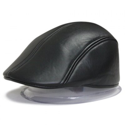 Solid Color Leather Material Visor