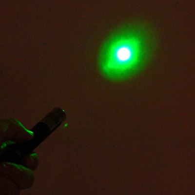 Durable 5mW 532nm Single Point Green Laser Pointer Pen for Powerpoint Projector (2 x AAA Battery)