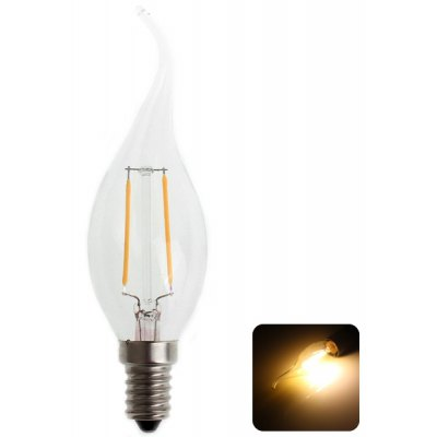 Zweihnder CMY - 40 E14 220 - 240V Tungsten Filament Warm White Light Tail - drawing Candle Light Bulb